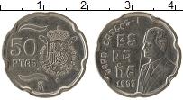 Изображение Монеты Испания 50 песет 1998 Медно-никель XF