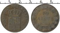 Изображение Монеты Греция 10 лепт 1865 Медь VF
