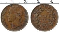 Продать Монеты Саравак 1/2 цента 1863 Медь