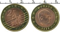 Продать Монеты Монако 2 евро 2005 Биметалл