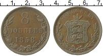 Изображение Монеты Гернси 8 дублей 1858 Медь XF-