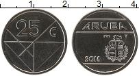 Изображение Монеты Аруба 25 центов 2018 Сталь UNC