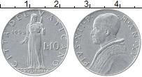 Изображение Монеты Ватикан 10 лир 1953 Алюминий XF
