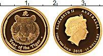 Изображение Монеты Австралия 15 долларов 2010 Золото Proof Год тигра (KM# 1375