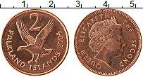 Изображение Монеты Фолклендские острова 2 пенса 2004 Медь UNC- Елизавета II. Птица