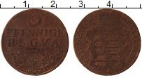 Изображение Монеты Саксе-Альтенбург 3 пфеннига 1761 Медь VF