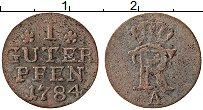 Изображение Монеты Пруссия 1 пфенниг 1784 Серебро VF А