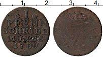 Изображение Монеты Пруссия 1 пфенниг 1789 Медь VF