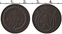 Изображение Монеты Германия Пфальц-Сульбах 1/2 крейцера 1777 Медь XF-