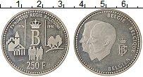 Изображение Монеты Бельгия 250 франков 1996 Серебро UNC- 20 лет Фонду Короля