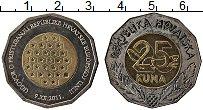 Изображение Монеты Хорватия 25 кун 2011 Биметалл UNC Вступление Хорватии