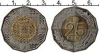 Изображение Монеты Хорватия 25 кун 2016 Биметалл UNC 25 лет независимости