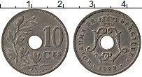 Изображение Монеты Бельгия 10 сантим 1902 Медно-никель XF