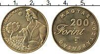 Изображение Монеты Венгрия 200 форинтов 2001 Латунь UNC-