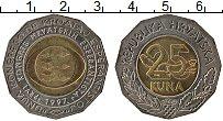 Изображение Монеты Хорватия 25 кун 1997 Биметалл UNC- Первый конгресс эспе