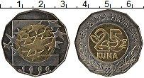 Изображение Монеты Хорватия 25 кун 1999 Биметалл UNC- Европейская валюта-е