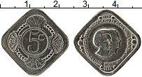 Изображение Монеты Нидерланды 5 центов 1970 Медно-никель UNC- UNUSUAL. Юлиана и Ви