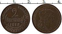 Изображение Монеты Франция 2 сантима 1912 Бронза XF+