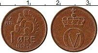 Изображение Монеты Норвегия 1 эре 1971 Бронза UNC- Улаф V. Белка