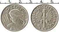 Изображение Монеты Польша 2 злотых 1925 Серебро UNC-