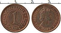 Изображение Монеты Маврикий 1 цент 1971 Бронза UNC-