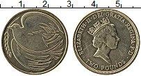 Изображение Мелочь Великобритания 2 фунта 1995 Латунь UNC- 50 лет окончания Вто