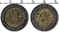 Изображение Монеты Мексика 5 песо 2008 Биметалл UNC 200 лет Независимост