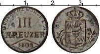 Продать Монеты Вюрцбург 3 крейцера 1808