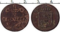 Продать Монеты Вюрцбург 1/2 крейцера 1811 Медь
