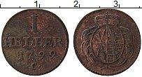 Изображение Монеты Саксония 1 геллер 1799 Медь XF-