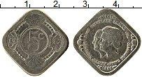 Изображение Монеты Нидерланды 5 центов 1980 Медно-никель UNC- UNUSUAL. Королева Юл