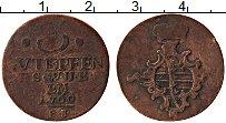 Изображение Монеты Саксен-Веймар-Эйзенах 3 пфеннига 1760 Медь VF F.S.