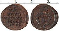 Продать Монеты Саксен-Кобург-Саалфелд 1 геллер 1755 Медь