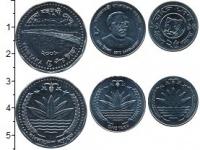 Изображение Наборы монет Бангладеш Набор из 3 монет 0 Сталь UNC