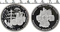 Изображение Монеты Германия настольная медаль 1990 Серебро Proof Объединение промышле