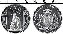 Изображение Монеты Сан-Марино 10000 лир 2000 Серебро Proof Святой 2000-й год