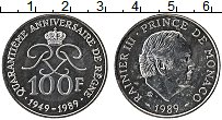 Продать Монеты Монако 100 франков 1989 Серебро