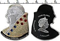 Изображение Монеты Острова Кука 5 долларов 2007 Серебро Proof Позолота. Стразы Сва