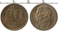 Изображение Монеты Бразилия 20 сентаво 1955 Латунь XF Руй Барбоза