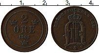 Изображение Монеты Швеция 2 эре 1902 Медь XF Оскар II