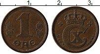 Изображение Монеты Дания 1 эре 1921 Медь XF