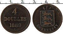 Изображение Монеты Гернси 4 дубля 1889 Медь XF-