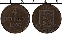 Изображение Монеты Гернси 4 дубля 1906 Бронза XF Н