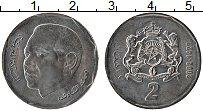 Изображение Монеты Марокко 2 дирхама 2002 Медно-никель UNC