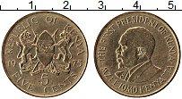 Изображение Монеты Кения 5 центов 1975 Латунь UNC-