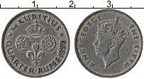 Изображение Монеты Маврикий 1/4 рупии 1950 Медно-никель XF Георг VI