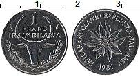 Изображение Монеты Мадагаскар 1 франк 1981 Сталь UNC-