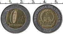 Изображение Монеты Ангола 10 кванза 2012 Биметалл UNC-