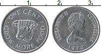 Изображение Монеты Сейшелы 1 цент 1972 Алюминий UNC-