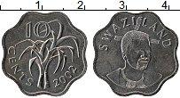Изображение Монеты Свазиленд 10 центов 2002 Медно-никель UNC-
